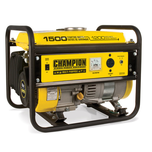 View a Larger Image of Champion 1200-1500W Generator, CARB Certified, Model 42436