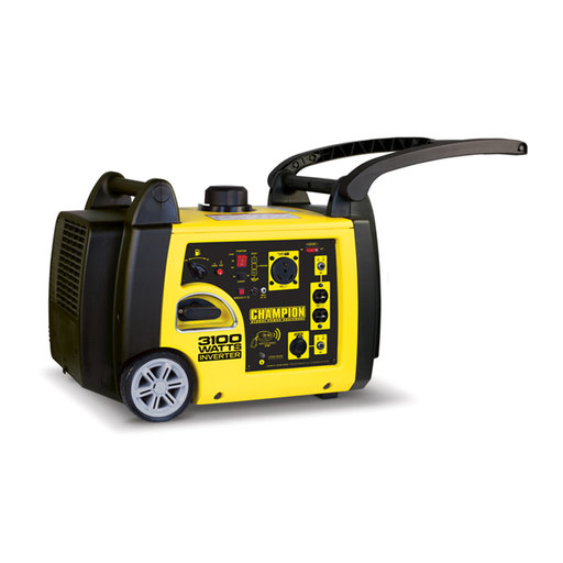 View a Larger Image of Champion 2800 / 3100 Watt Inverter Generator, CARB Compliant