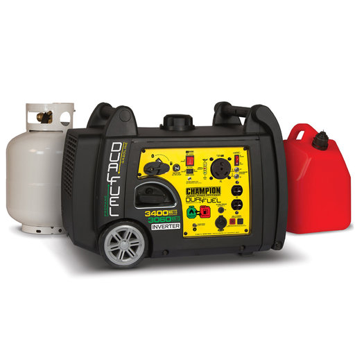 View a Larger Image of Champion 3100/3400W Dual Fuel iGenerator with RV Ready, CARB