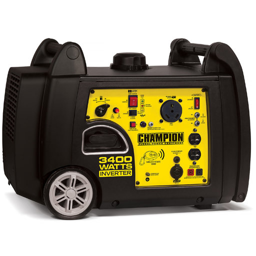 View a Larger Image of Champion 3100/3400W Generator with RV Ready, CARB