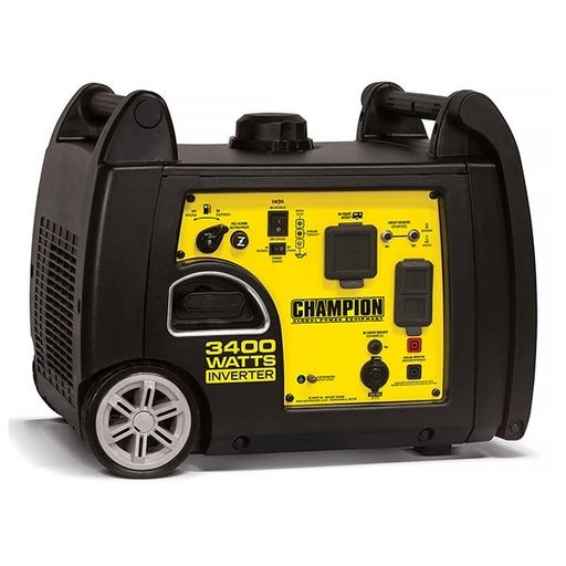 View a Larger Image of Champion 3100/3400W Inverter Generator with RV Ready, CARB