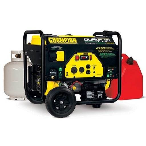 View a Larger Image of Champion 3420/4275W LPG 3800/4750Watt Dual Fuel Generator, CARB