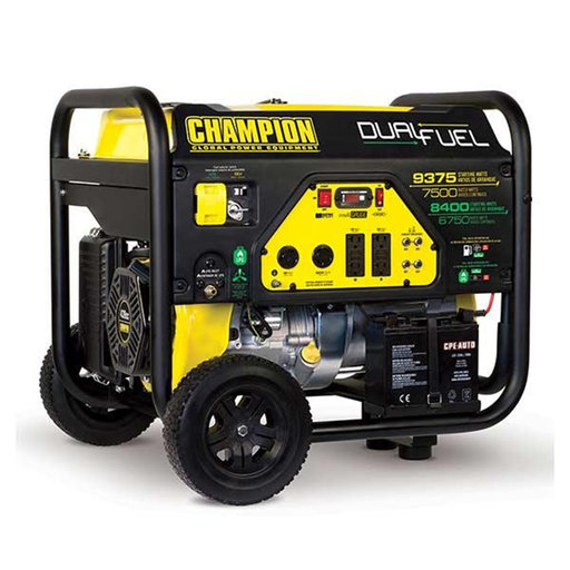 View a Larger Image of Champion 6750/8400W LPG/9375/7500W Dual Fuel Generator, CARB