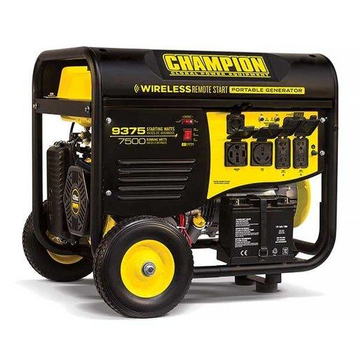 View a Larger Image of Champion 7500 / 9375W Remote Start Generator RV Ready, CARB