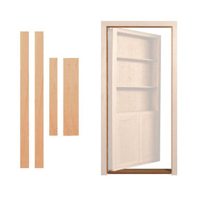 Cherry Inswing Jam/Threshold Accessory for 32 in. or 36 in. InvisiDoor Bookcase Door