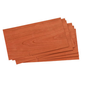 "Cherry 4-1/2"" to 6-1/2"" Width 3 sq ft Pack Wood Veneer"