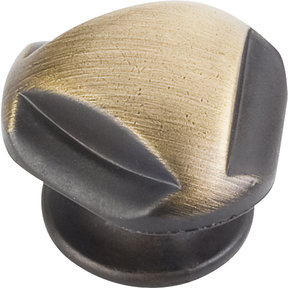 "Chesapeake Knob, 1-5/16"" Dia.,  Antique Brushed Satin Brass"