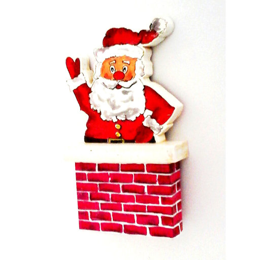 View a Larger Image of Chimney Santa Woodworking Pattern and Picture