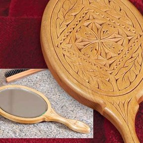 Chip Carved Hand Mirror - Downloadable Plan