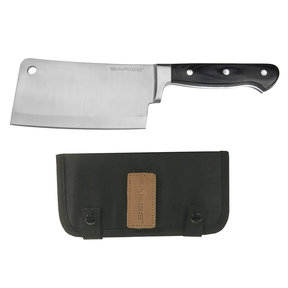 "Chop - Cleaver with Sheath, Kitchen Grade Stainless Steel 6-1/4"" Blade"