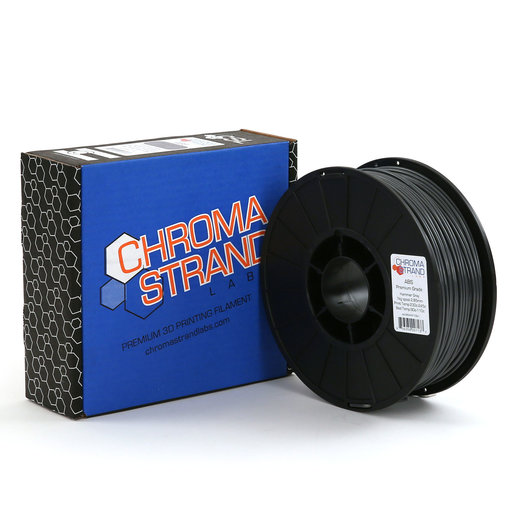 View a Larger Image of Chroma Strand ABS Filament, Hammer Gray, 2.85mm, 1kg reel