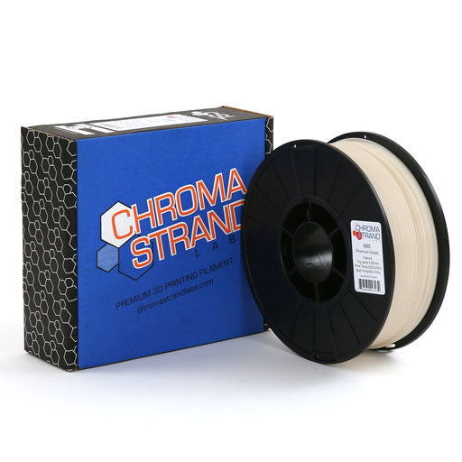 View a Larger Image of Chroma Strand ABS Filament, Natural, 2.85mm, 1kg reel