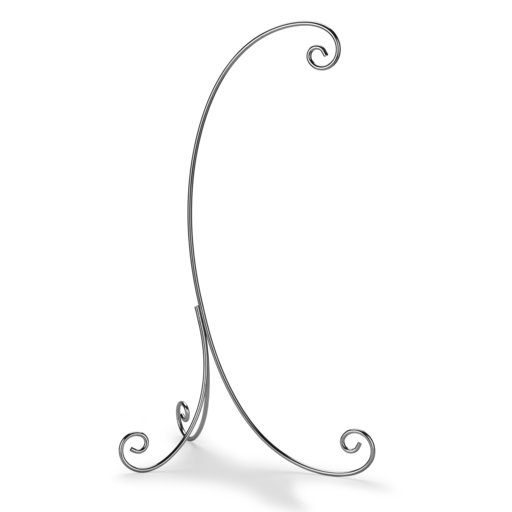 View a Larger Image of Chrome Plated 3 Legged Ornament Stand