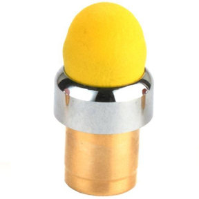 Chrome Threaded Stylus Tip Yellow