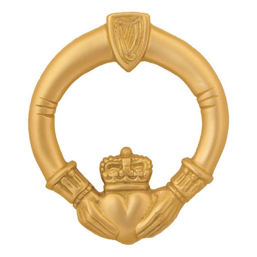 View a Larger Image of Claddagh Door Knocker - Brass