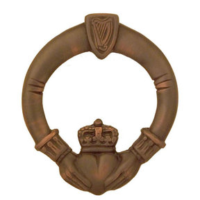 Claddagh Door Knocker - Oiled Bronze