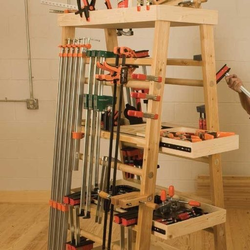 View a Larger Image of Clamp Rack - Downloadable Plan