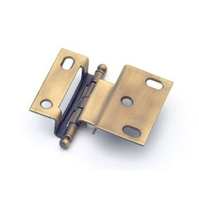 """3/8"""" Offset Hinge, Weathered Brass, 2541WB"""