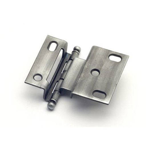 """View a Larger Image of 3/8"""" Offset Hinge, Weathered Pewter, 2541WP"""