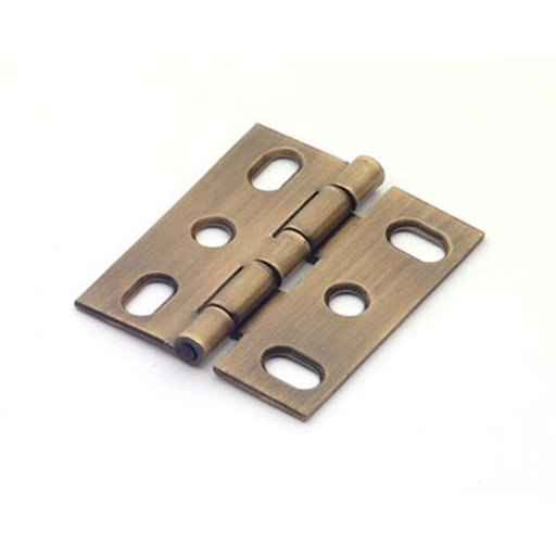 View a Larger Image of Antique Brass Mortise Hinge, 2505AB