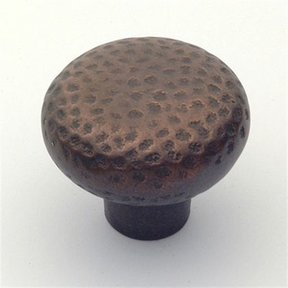 "Arts & Crafts Knob, Aged Bronze, 1-5/8"" Diameter, 1521AZ"