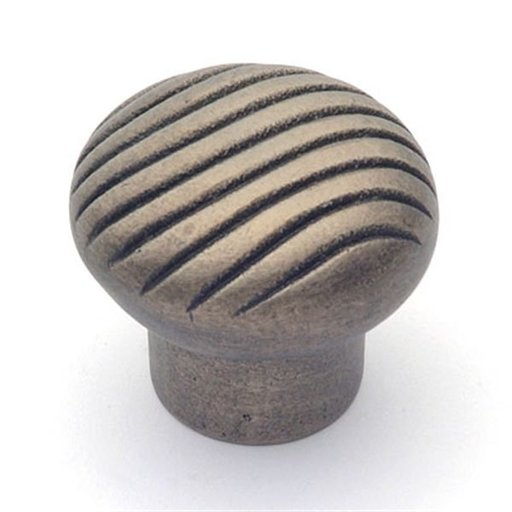 """View a Larger Image of Canyon Knob, Aged Iron, 1-3/8"""" Diameter, 1664AI"""