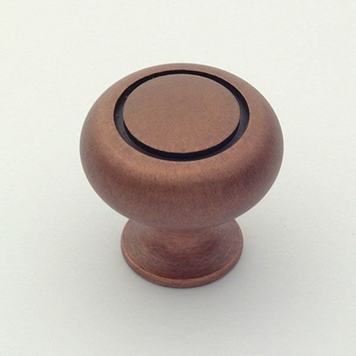 """View a Larger Image of Hatteras Knob, Weathered Copper, 1-1/4"""" Diameter, 1018WC"""