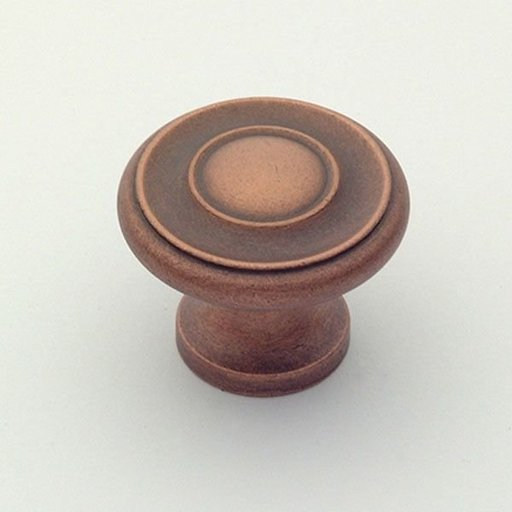 """View a Larger Image of Hatteras Knob, Weathered Copper, 1-1/4"""" Diameter, 1049WC"""