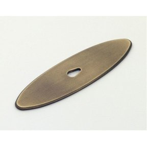 Hatteras Oval Backplate, Weathered Brass, 1197WB