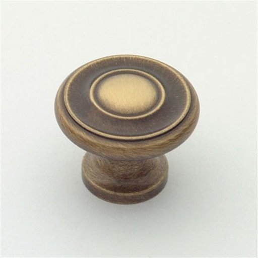 """View a Larger Image of Knob, Antique Brass, 1-1/4"""" Diameter, 1049AB"""