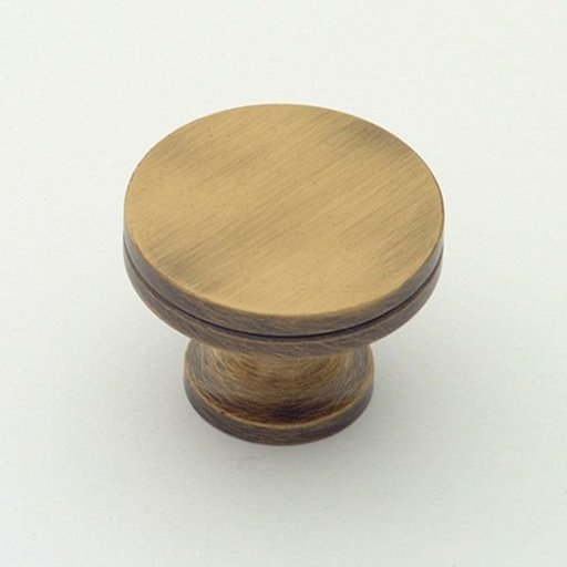 """View a Larger Image of Knob, Antique Brass, 1-1/4"""" Diameter, 1152AB"""