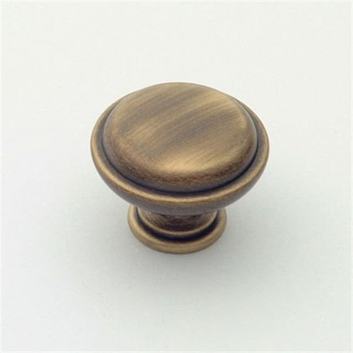 """View a Larger Image of Knob, Antique Brass, 1-1/8"""" Diameter, 1057AB"""