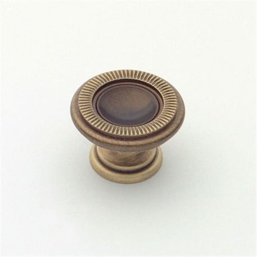 View a Larger Image of Knob, Antique Brass, 25 mm Diameter, 1169AB