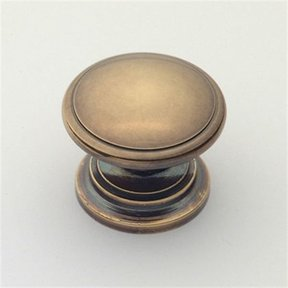 "Knob, Polished Antique, 1-1/4"" Diameter, 1019PA"