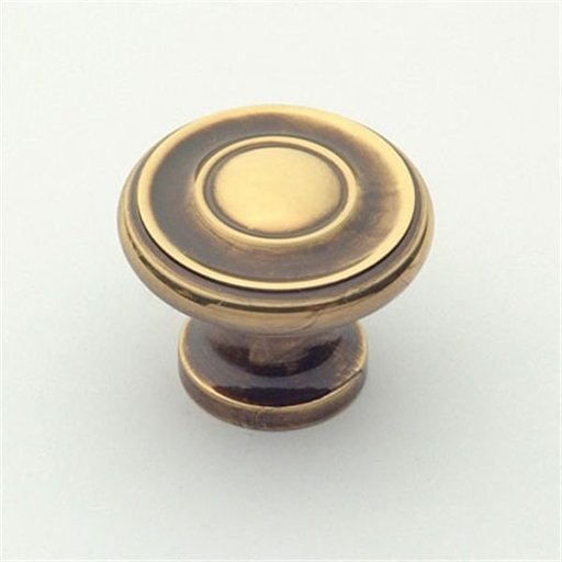 """View a Larger Image of Knob, Polished Antique, 1-1/4"""" Diameter, 1049PA"""