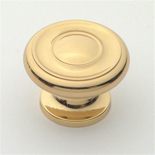 "View a Larger Image of Knob, Polished Brass, 1-1/2"" Diameter, 1050PB"
