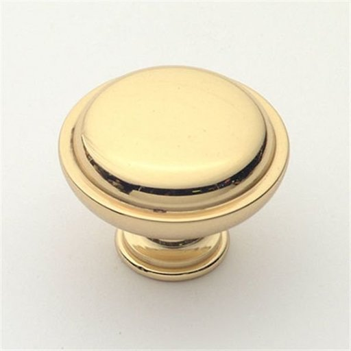"View a Larger Image of Knob, Polished Brass, 1-1/2"" Diameter, 1146PB"