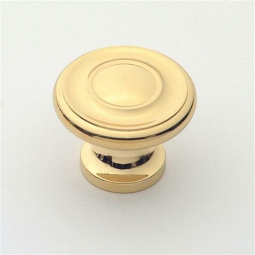"""View a Larger Image of Knob, Polished Brass, 1-1/4"""" Diameter, 1049PB"""