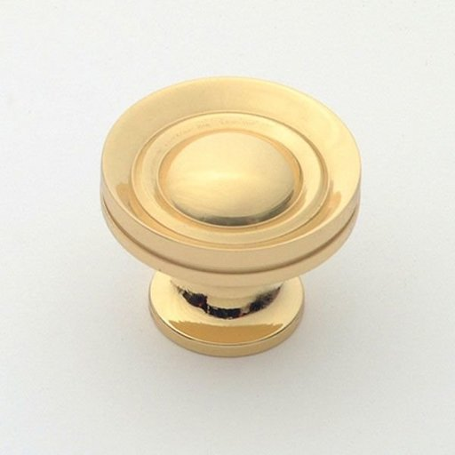 """View a Larger Image of Knob, Polished Brass, 1-1/4"""" Diameter, 1055PB"""