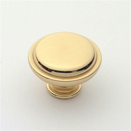 "View a Larger Image of Knob, Polished Brass, 1-1/4"" Diameter, 1145PB"