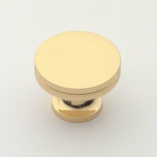 "View a Larger Image of Knob, Polished Brass, 1-1/4"" Diameter, 1152PB"
