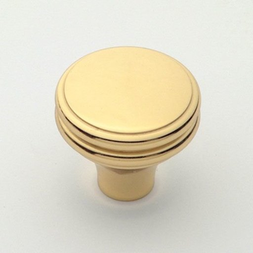 """View a Larger Image of Knob, Polished Brass, 1-1/4"""" Diameter, 1154PB"""