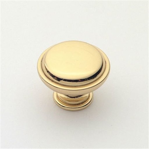 """View a Larger Image of Knob, Polished Brass, 1-1/8"""" Diameter, 1057PB"""