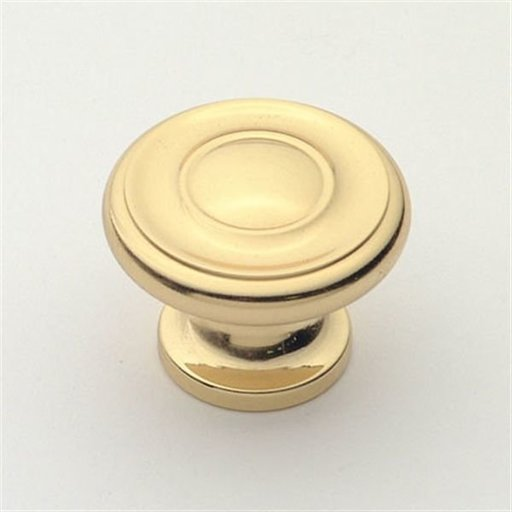 """View a Larger Image of Knob, Polished Brass, 1-3/8"""" Diameter, 1048PB"""