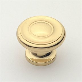 "Knob, Polished Brass, 1-3/8"" Diameter, 1048PB"