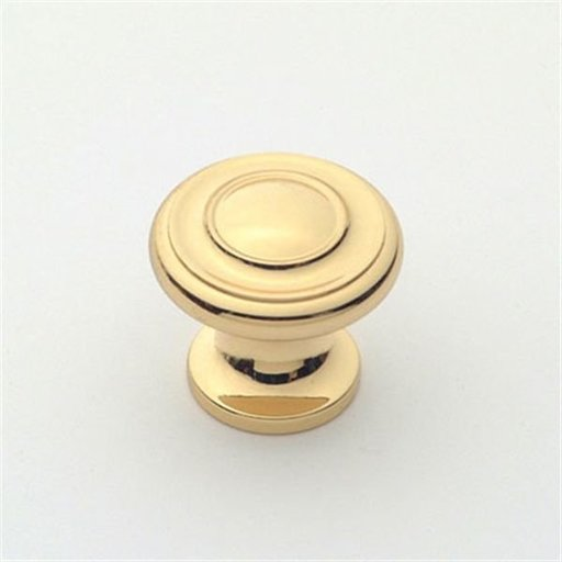 """View a Larger Image of Knob, Polished Brass, 1"""" Diameter, 1047PB"""