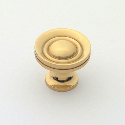 """View a Larger Image of Knob, Polished Brass, 1"""" Diameter, 1053PB"""