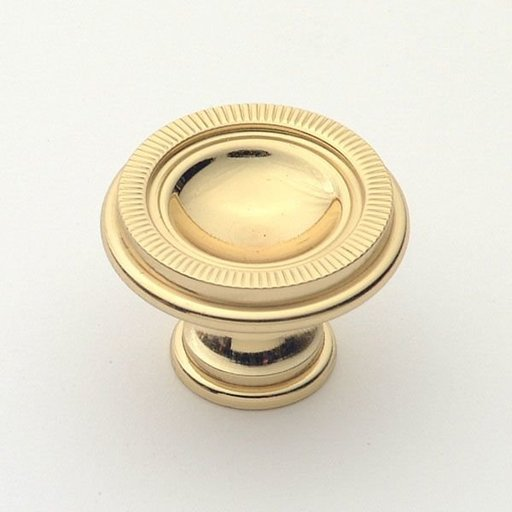 View a Larger Image of Knob, Polished Brass, 35 mm Diameter, 1171PB