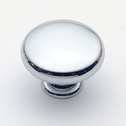 """View a Larger Image of Knob, Polished Chrome, 1-1/2"""" Diameter, 1233PC"""