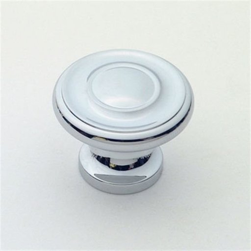 """View a Larger Image of Knob, Polished Chrome, 1-1/4"""" Diameter, 1049PC"""